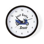 Just Gotta Scoot Reflex Wall Clock
