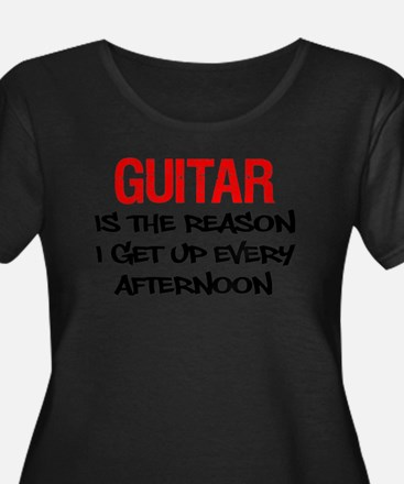 Guitar Get Up Afternoon Plus Size T-Shirt