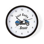 Just Gotta Scoot Helix Wall Clock