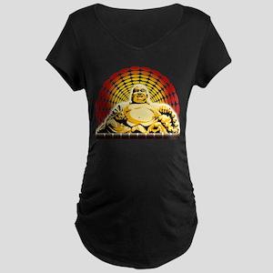 Golden Buddha Maternity Dark T-Shirt