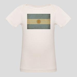 Vintage Argentina Flag Organic Baby T-Shirt