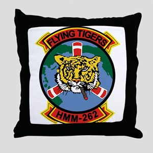 Hmm-262 Flying Tigers Throw Pillow