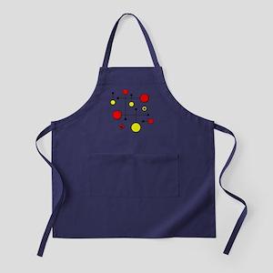 Red & Yellow Dot Dash Apron (dark)