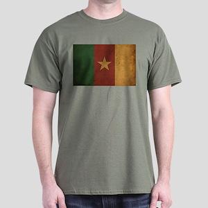 Vintage Cameroon Flag Dark T-Shirt