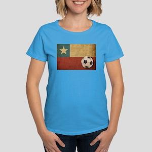 Vintage Chile Flag Women's Dark T-Shirt