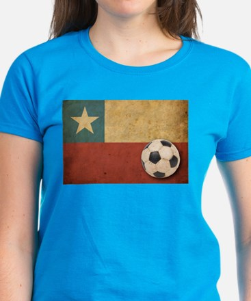 Vintage Chile Flag Women's Dark T-Shirt