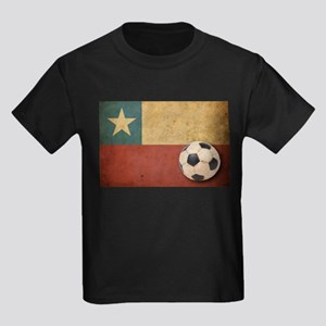 Vintage Chile Flag Kids Dark T-Shirt