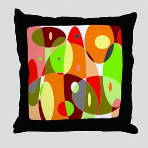 Hot Psychedelic Throw Pillow