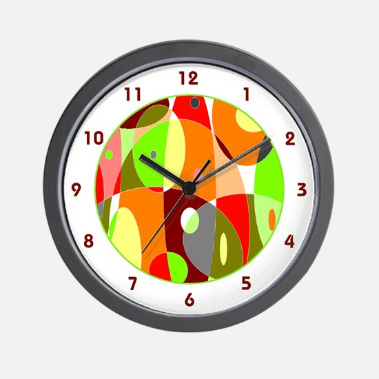 Hot Psychedelic Wall Clock