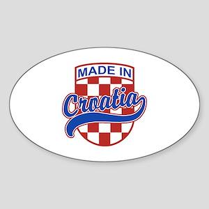 Made In Croatia Sticker (Oval)