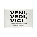 Veni Vedi Vici Caesar Quote Rectangle Magnet (10 p