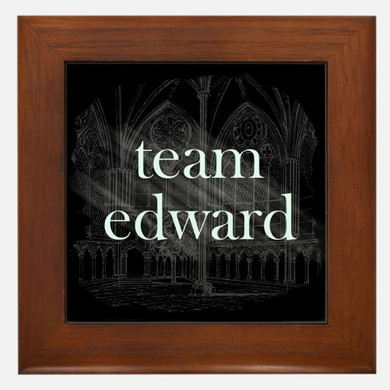 Team Edward Gothic Framed Tile