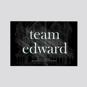 Team Edward Gothic Rectangle Magnet