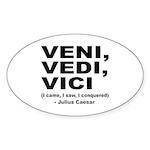 Veni Vedi Vici Caesar Quote Oval Sticker