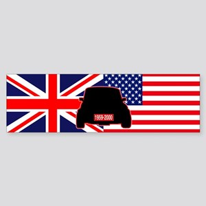 UK-US flag Mini Sticker (Bumper)