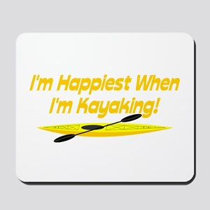 I'm Happiest When Mousepad