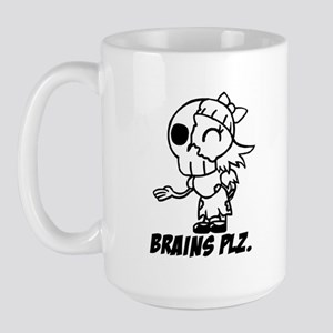Big Honkin' Cute Zombie Girl BRAINS PLZ Mug