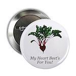 """My Heart Beet's 2.25"""" Button (10 pack)"""