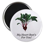 "My Heart Beet's 2.25"" Magnet (10 pack)"