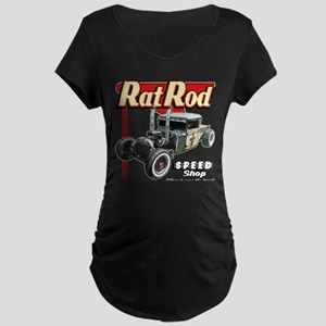 Rat Road Speed Shop - Pipes Maternity Dark T-Shirt
