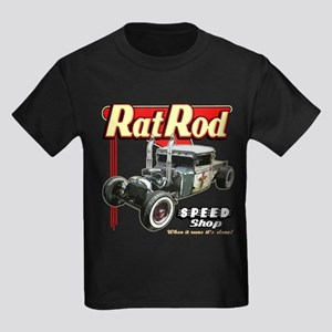 Rat Road Speed Shop - Pipes Kids Dark T-Shirt