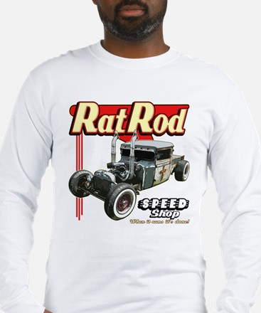 Rat Road Speed Shop - Pipes Long Sleeve T-Shirt