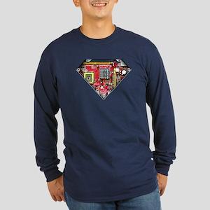 Super CPU! Long Sleeve Dark T-Shirt