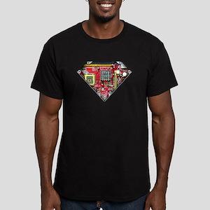Super CPU! Men's Fitted T-Shirt (dark)