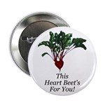 "This Heart Beet's 2.25"" Button (10 pack)"
