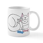 White ASL Kitty Mug