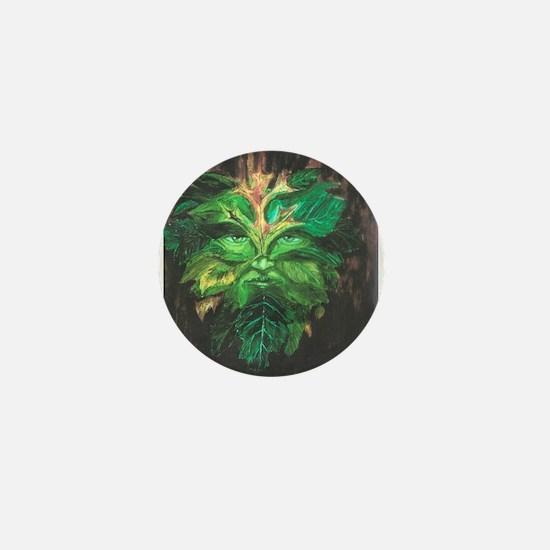 Green Man Mini Button
