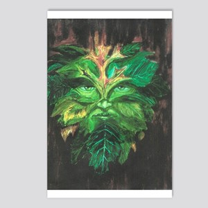 Green Man Postcards (Package of 8)