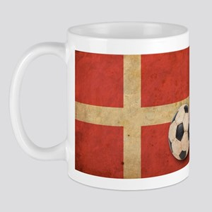 Vintage Denmark Football Flag Mug