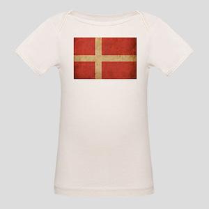 Vintage Denmark Flag Organic Baby T-Shirt