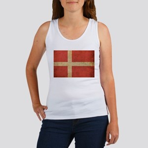 Vintage Denmark Flag Women's Tank Top