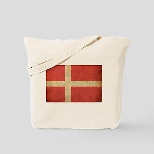 Vintage Denmark Flag Tote Bag