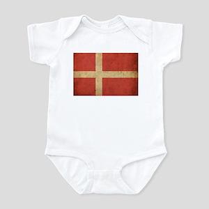 Vintage Denmark Flag Infant Bodysuit