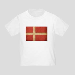 Vintage Denmark Flag Toddler T-Shirt