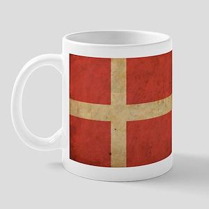 Vintage Denmark Flag Mug