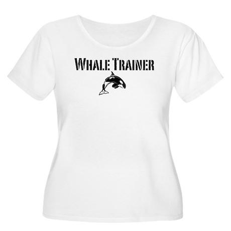 Whale Trainer Light Women's Plus Size Scoop Neck T