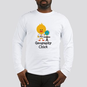 Geography Chick Long Sleeve T-Shirt