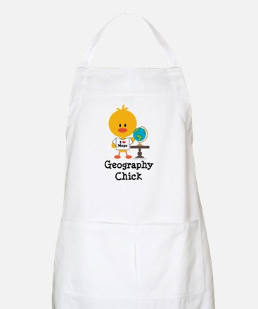 Geography Chick Apron