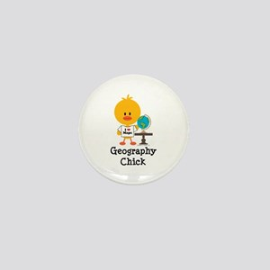 Geography Chick Mini Button