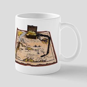 Pirate Map Treasure Mug
