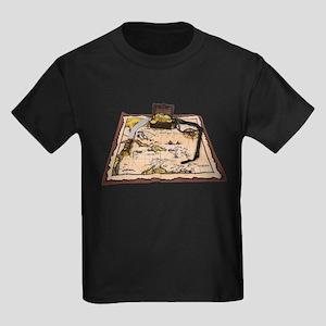 Pirate Map Treasure Kids Dark T-Shirt