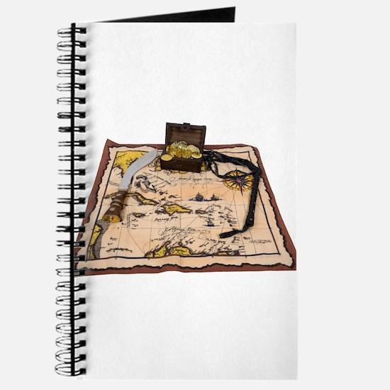 Pirate Map Treasure Journal