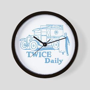 Twice Daily Wall Clock