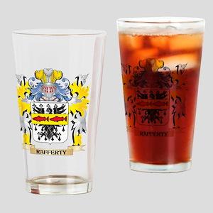 Rafferty Family Crest - Coat of Arm Drinking Glass
