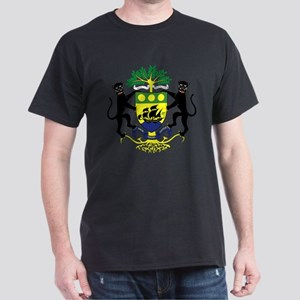 Gabon Coat of Arms Emblem (Front) Dark T-Shirt