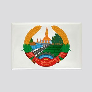 Laos Coat of Arms Emblem Rectangle Magnet